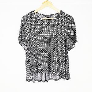 H&M Black & White Geometrical High and Low Top